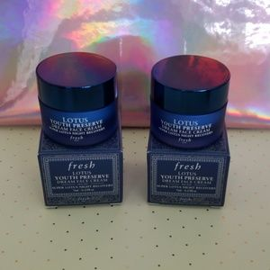 2 New never used FRESH Lotus youth preserve cream
